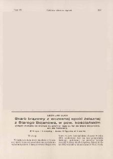 Skarb brązowy z wczesnej epoki żelaznej z Starego Bojanowa, w pow. kościańskim
