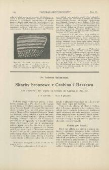 Skarby bronzowe z Czubina i Raszewa