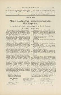Mapy osadnictwa przedhistorycznego Wielkopolski