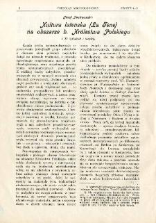 Kultura lateńska (La Tène) na obszarze b. Królestwa Polskiego