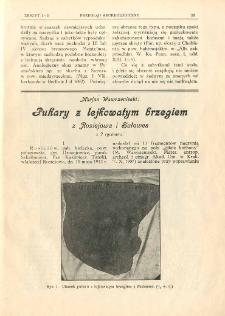 Puhary z lejkowatym brzegiem z Rosiejowa i Sułowca
