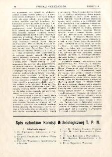 Spis członków Komisji Archeologicznej T. P. N.