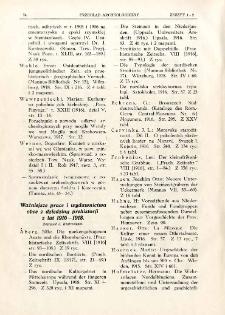 Ważniejsze prace i wydawnictwa obce z dziedziny prehistorji z lat 1916-1918