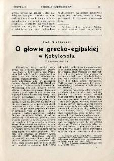 O głowie grecko-egipskiej w Kobylopolu