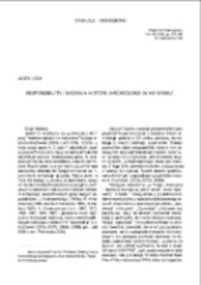 Responsibility i badania historii archeologii w XX wieku