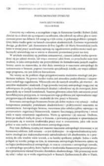 Komentarze do artykułu Pawła Krzyworzeki i Olgi Rodak : podsumowanie dyskusji