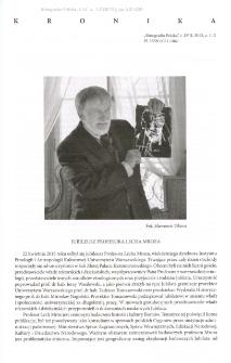 Jubileusz Profesora Lecha Mroza