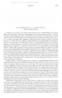 VII Congreso Ceisal,12-15 czerwca 2013 r., Porto (Portugalia)