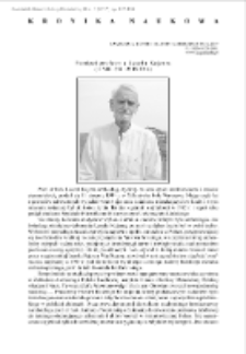 Pamięci profesora Leszka Kajzera (11 VIII 1944-25 IX 2016)