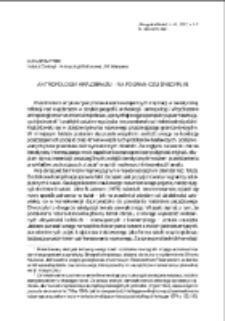 Antropologia krajobrazu – na pograniczu dyscyplin