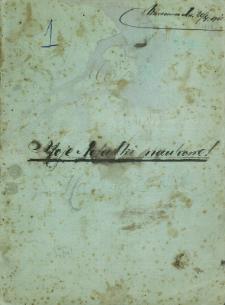 """Zeszyt """"Moje notatki naukowe"""" 1910 rok"""