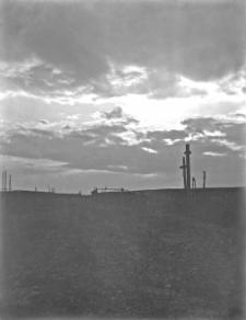Nowogródzkie : krzyże przydrożne przy drodze wiejskiej do wsi Rusaki (woj. Nowogródzkie)