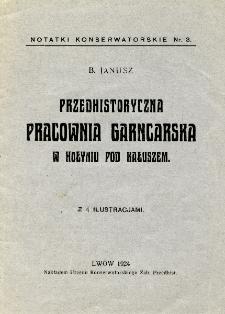 Przedhistoryczna pracownia garncarska w Hołyniu pod Kałuszem