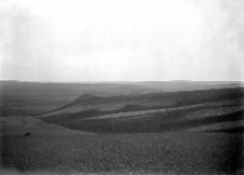 Stawki, powiat Równe : widok na osadę wczesnohistoryczną i kurhan