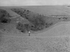 Zbrza Wielka koło Zawichostu : widok na stanowisko