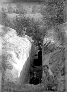 Góra Puławska : korytarz i stopnie : szurf II z 1949 roku