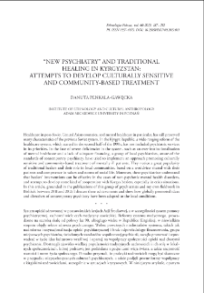 """""""New Psychiatry"""" and Traditional Healing in Kyrgyzstan: Attempts to Develop Culturally Sensitive and Community-Based Treatment"""