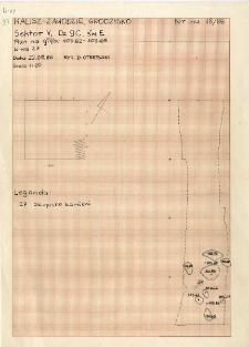 KZG, V 9 C, świadek E, warstwa 27 - skupisko kamieni
