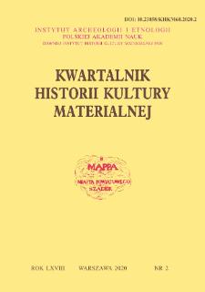 Kwartalnik Historii Kultury Materialnej R. 68 Nr 2