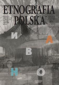 Etnografia Polska 64 z. 1-2 (2020)