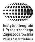 INSTYTUT GEOGRAFII I PRZESTRZENNEGO ZAGOSPODAROWANIA PAN