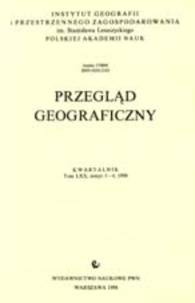 Przegląd Geograficzny T. 70 z. 3-4 (1998)