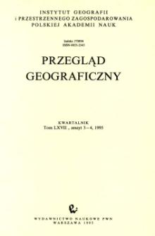 Przegląd Geograficzny T. 67 z. 3-4 (1995)