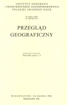 Przegląd Geograficzny T. 64 z. 1-2 (1992)