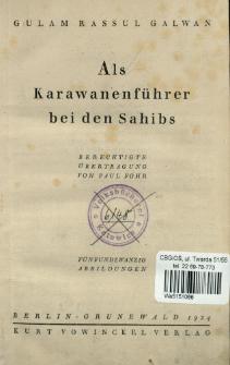 Als Karawanenführer bei den Sahibs