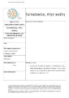 Kurnatowice, watermill