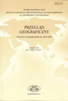 Przegląd Geograficzny T. 83 z. 1 (2011), Spis treści