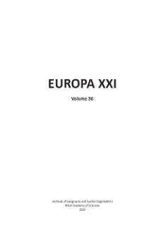 Europa XXI 36 (2019), Contents