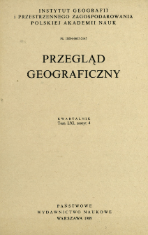 Przegląd Geograficzny T. 61 z. 4 (1989)