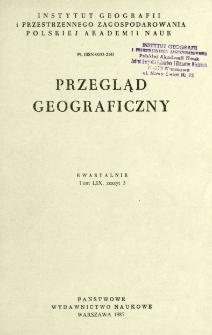 Przegląd Geograficzny T. 59 z. 3 (1987)