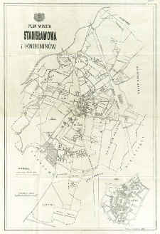 Plan miasta Stanisławowa i Knihininów