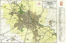 Lageplan der Stadt Troppau : nach der Eingemeindung von katharein, Gilschwik und Jaktar