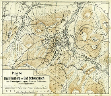 Karte von Bad Flinsberg und Bad Schwarzbach in Isergebirge : Preuss. Schlesien
