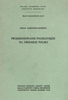 Promieniowanie pochłonięte na obszarze Polski = Absorbed solar radiation in Poland = Pogloščennaja solnečnaja radiacija na territorii Polʹši