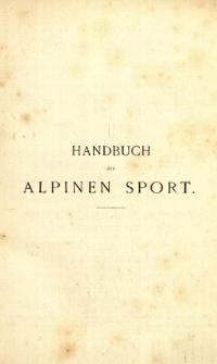 Handbuch des alpinen Sport