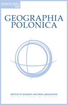 Geographia Polonica Vol. 93 No. 3 (2020), Contents