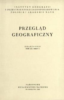 Przegląd Geograficzny T. 52 z. 1 (1980)
