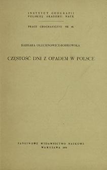 Częstość dni z opadem w Polsce = Frequency of days with precipitation in Poland = Častota dnej s osadkami v Pol'še