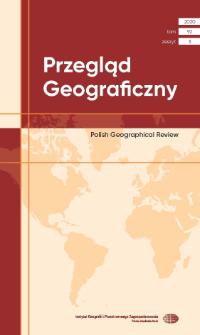 Przegląd Geograficzny T. 92 z. 3 (2020), Spis treści
