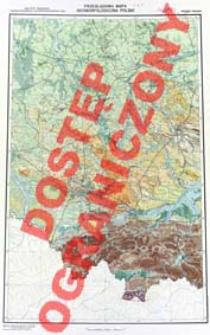 Przeglądowa mapa geomorfologiczna Polski : 1:500 000. Arkusz Kraków