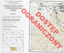 Przeglądowa mapa hydrograficzna Polski : 1:500 000. [Ark. z legendą]