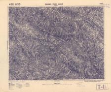 A 52 B 35 Dydjowa i Zempl. Ruská 4369 : podziałka 1:100.000