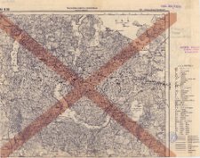 A 34 B 33, 169. Johannisburg (Jańsbork) : terytorjum państwa niemieckiego : podziałka 1:100.000