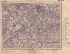 A 47 B 26, 499. Cosel (Koźle) : terytorjum państwa niemieckiego : podziałka 1:100.000