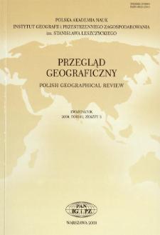 Przegląd Geograficzny T. 81 z. 3 (2009), Spis treści