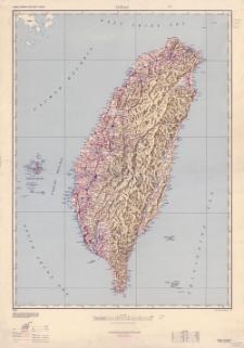 Taiwan (Formosa) road map 1:500,000. Taiwan